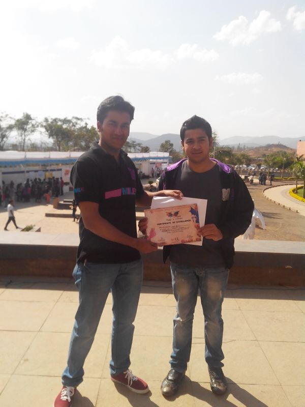 Sajal Agarwal won Extempore Event, followed by Vishesh Gupta of Batch 2015 who bagged 1st runners up prize.