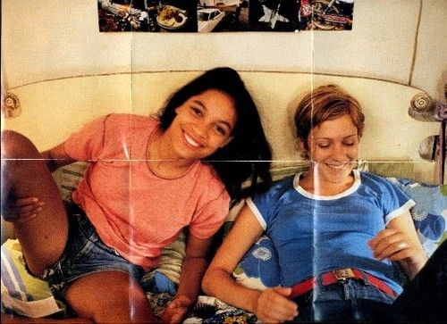 Chloe and Rosario, on the set of Kids (1995)