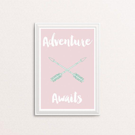 Adventure awaits DIY printable Girl's bedroom by Papierscharmants