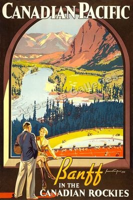 Banff Canadian Pacific RR 1930s Travel Poster