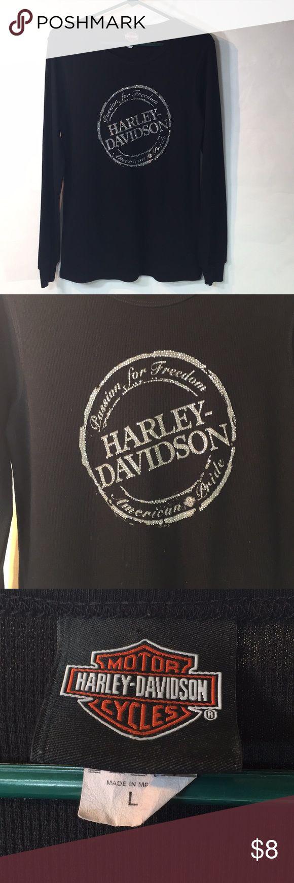 Harley Davison long sleeve tee Good condition women's Harley Davison Harley Davidson Tops Tees - Long Sleeve