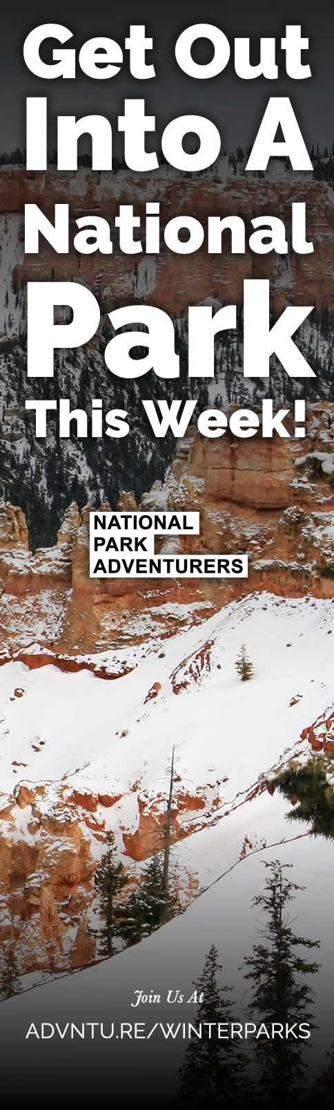 Get Out Into A National Park This Week! - 12/27/2016    As 2016 comes to a close, and families across the U.S. join each other during the holidays to reflect on another year, it's a great time to get one more park visit in before the Centennial year ends. During the course of 2016, the National Park Service has celebrated its 100th anniversary; and plenty of people have flocked to the parks to celebrate with them, over 310 million to date. http://advntu.re/winterparks