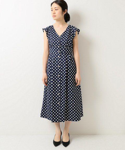 2bf8cf665f4 レトロドットワンピース◇ IENA(イエナ)公式のファッション通販 ...