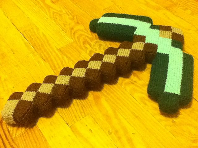 Ravelry: Minecraft pickaxe pattern by Tommy Smith
