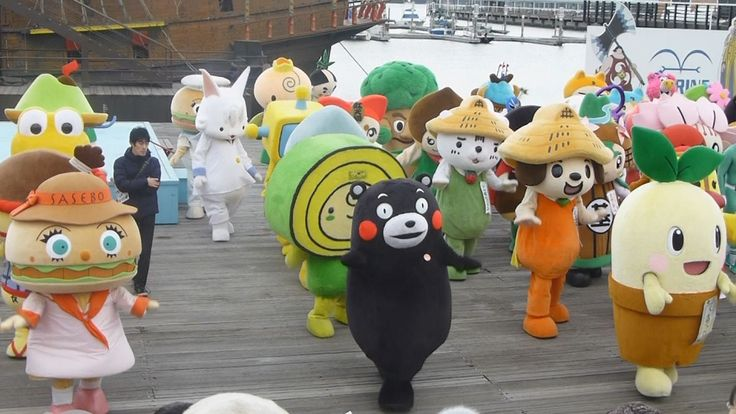 134 Japanese Character Mascots Dancing in Sync