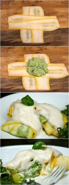 Squash Wrapped Chicken & Spinach Paleo Ravioli #lowcarb #healthy