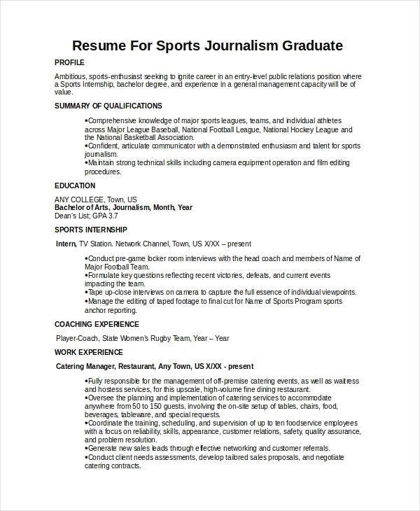 Multimedia Journalist Resume Sample Template Journalist Resume Sample Internships Com Resume Templates Journalism Resume Template Resume Templates Resume