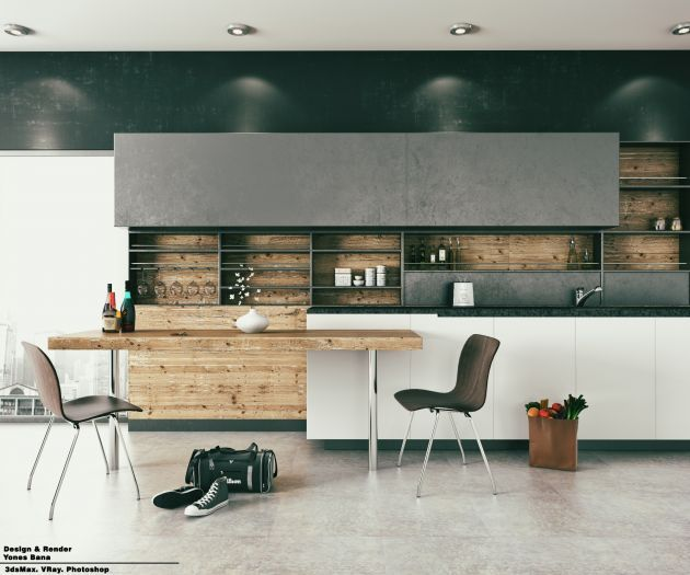 CGarchitect - Professional 3D Architectural Visualization User Community | Minimal Kitchen