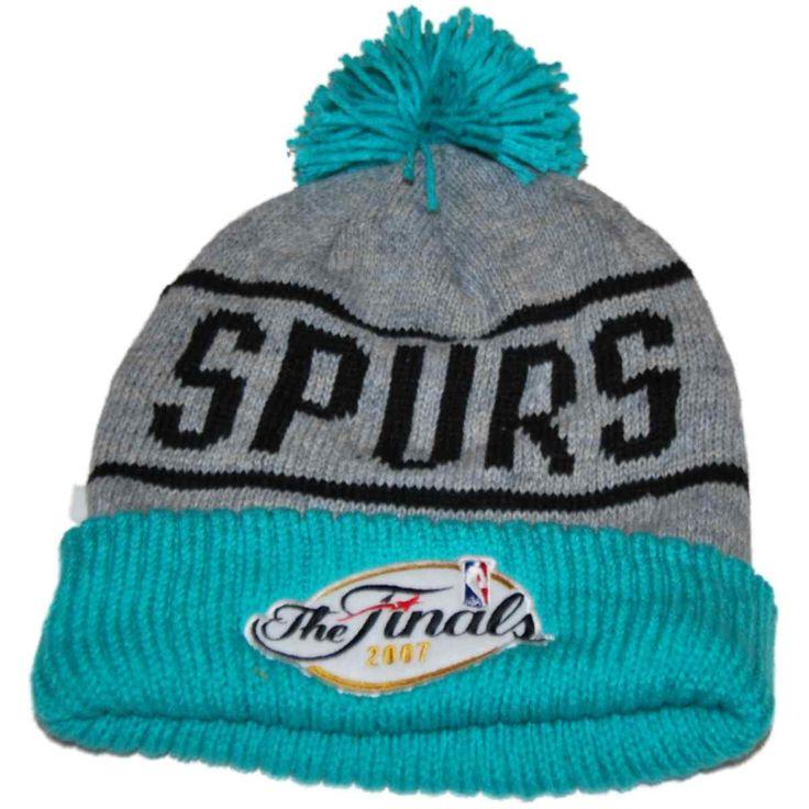 San Antonio Spurs Mitchell & Ness Gray Teal 2007 NBA Finals Cuffed Knit Beanie