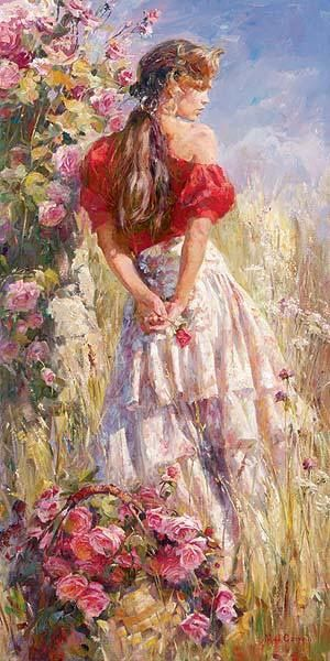 Cherished Roses by Michael Garmash