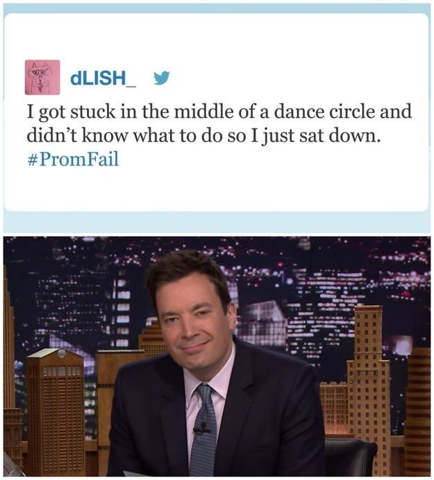 """This #PromFail:   21 Tweets Jimmy Fallon Read On """"The Tonight Show"""" That Will Make You Pee A Little"""