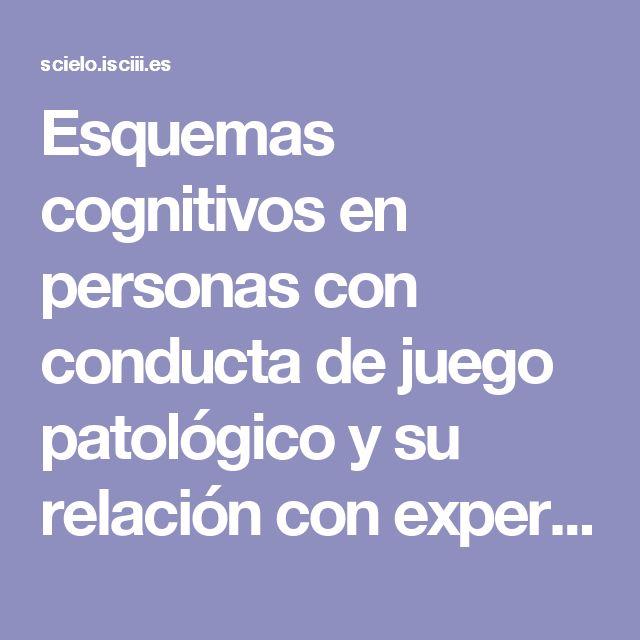 Esquemas cognitivos en personas con conducta de juego patológico y su relación con experiencias de crianza