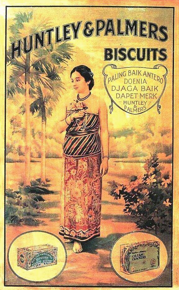 Indonesia ~ vintage poster ~ Huntley & Palmers biscuits