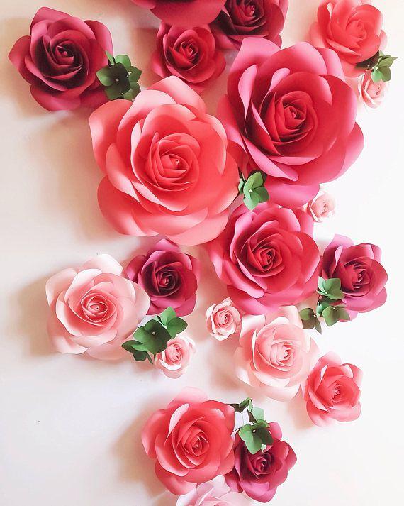 Telón de fondo  gran papel flores  telón de fondo de flores