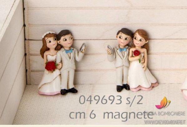 Bomboniere Simpatiche Matrimonio.Sposini Selfie Magnete Cb049693 Bomboniere Selfie E Bomboniera