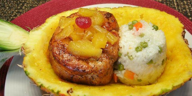 Si lo que quieres es celebrar, aquí estála receta que buscabas...: Lomo de Cerdo con Piña