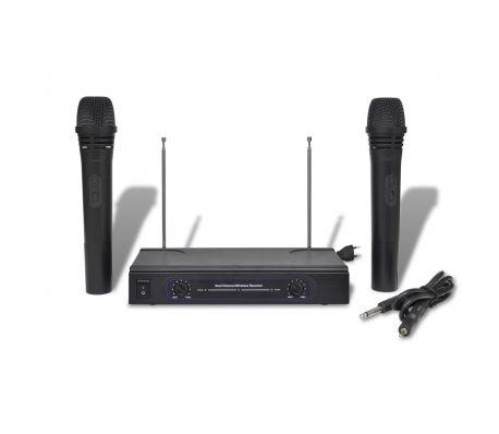 Set of 1 Receiver and 2 Wireless Microphones VHF specials