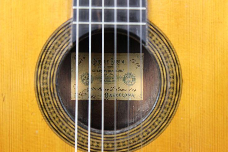 Enrique Garcia – 1914   Siccas Guitars – The World's finest guitars in one place