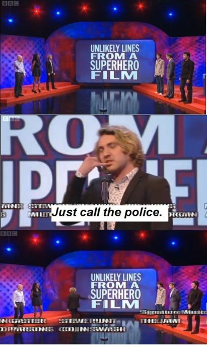 Unlikely lines from a superhero film | Mock the Week