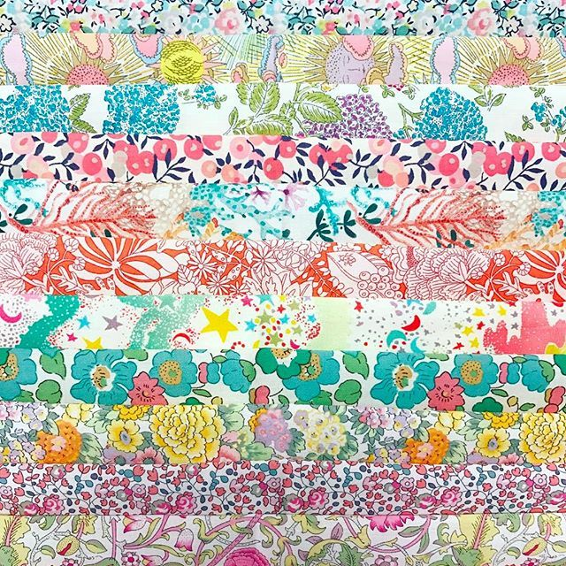 Making up lots of Love Liberty Quilt Kits today in preparation for The Strawberry Thief Open Day on Saturday 18th of March ❤ Very excited to have all our Perth friends come and play for the day!.Open Day details can be found on our Facebook page, and Love Liberty Quilt kits are available in our webstore!.Don't forget to check out the free Love Liberty Quilt tutorial on our blog ❤...