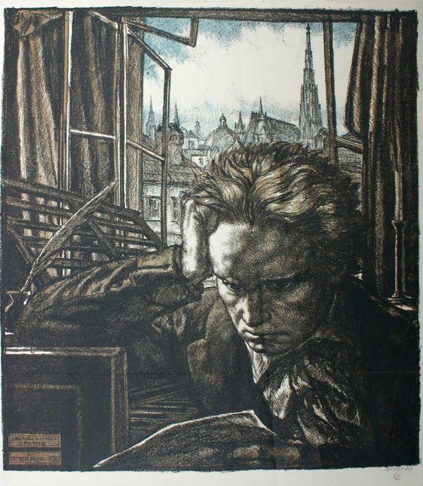 PORTRAIT OF LUDWIG VAN BEETHOVEN, BY KARL STERRER.