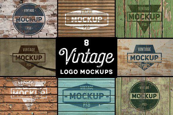 8 Vintage Logo Mockups vol. 2 by BART.Co Design on @creativemarket