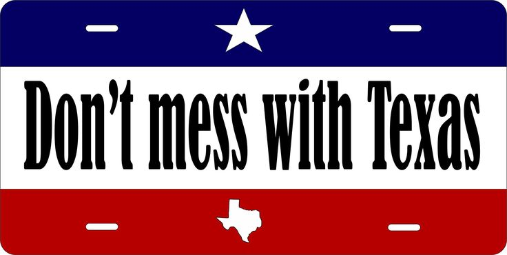 Don't Mess With The Texas Personalized Tag Vehicle Car Moped Bike Bicycle Motorcycle Auto License Plate -- Awesome products selected by Anna Churchill