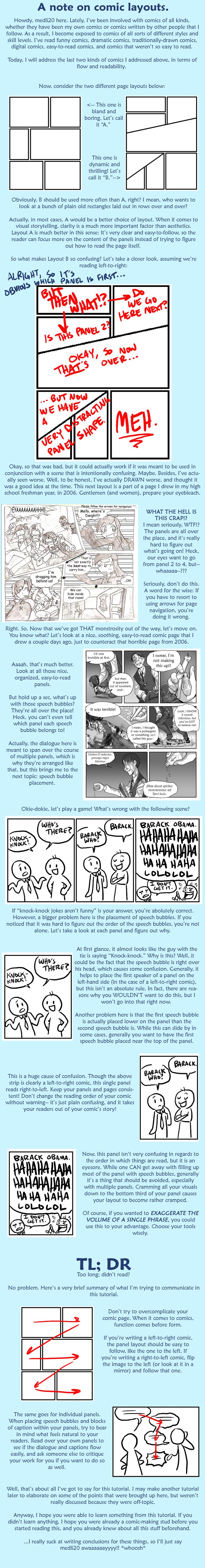 Tutorial: Comic / Manga Layout ----Manga Art Drawing Drafting Storyboarding--- [[[medli20.deviantart.com]]]