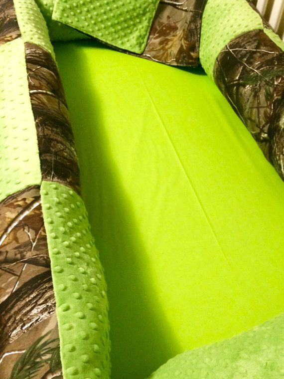 Custom Baby Bedding 4 pc Real Tree Camo Baby Bedding with