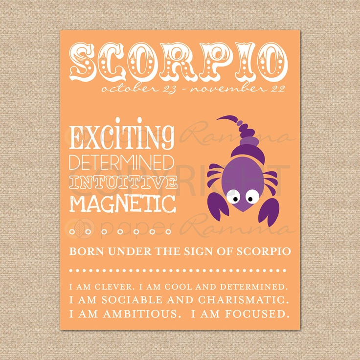 SCORPIO Zodiac Nursery / Kids Room Art Print  8 x 10 by PaperRamma, $20.00