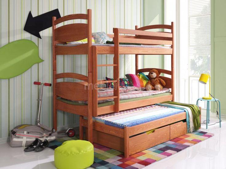 Łóżko piętrowe Cezary 3-osobowe