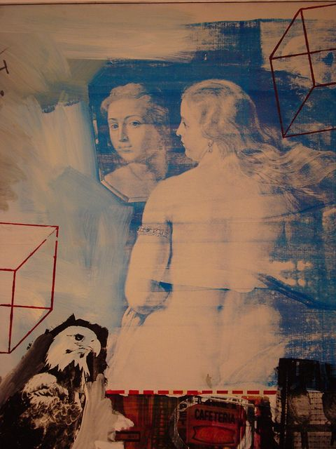 Robert Rauschenberg ~ Tracer (detail), 1963 (oil and silkscreen on canvas) (one of of my 'old friends' at the nelson)