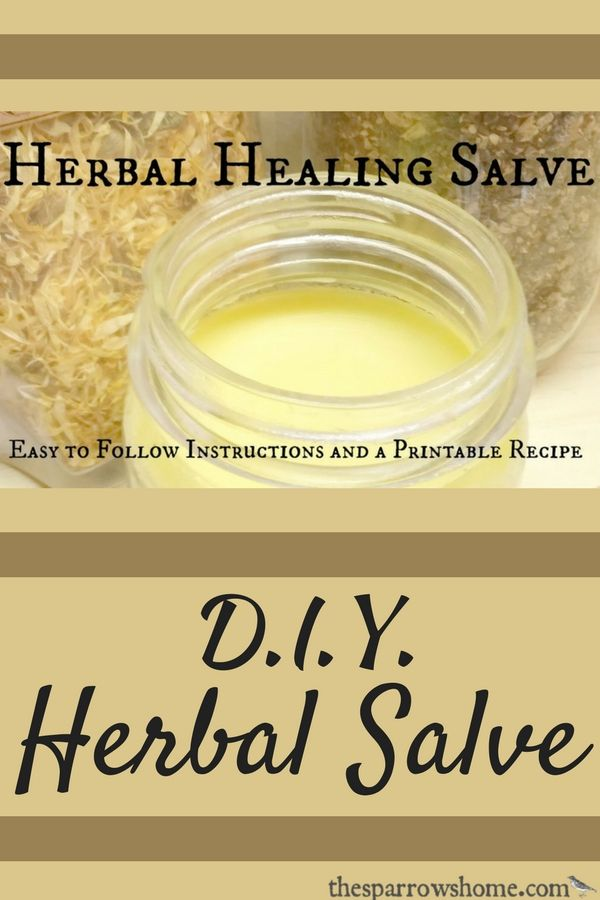 This homemade Herbal Healing Salve works fantastically for cuts, scrapes, hangnails, chapped lips, burns, diaper rash, general rashes, eczema, chafing, and