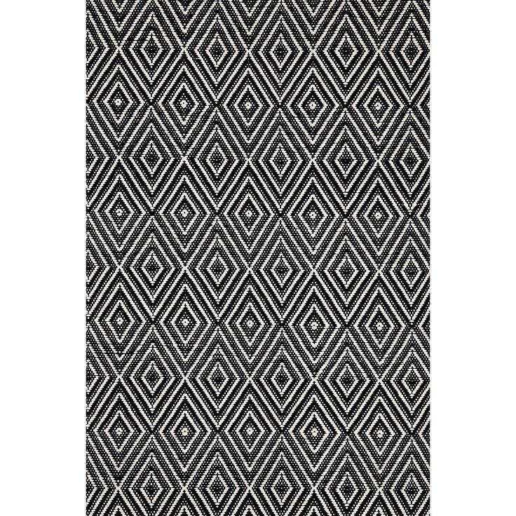 Diamond Black Ivory Indoor Outdoor Rug