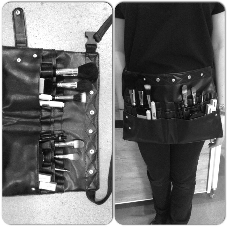 Our brush belt is the best onset tool! Room for makeup and brushes! #latonas #makeup #toolbelt #tradie :-)