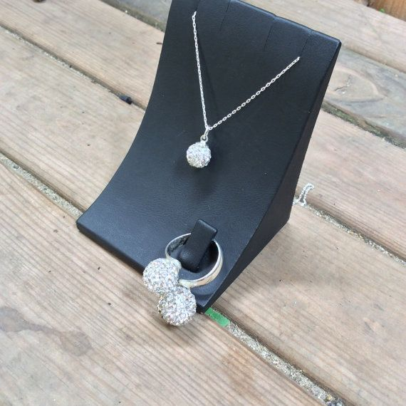 Sterling Silver Zircon Necklace Set with ring by Istanbuljewelry01