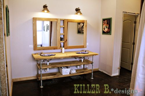 reclaimed industrial vanity best industrial bathroom 13224