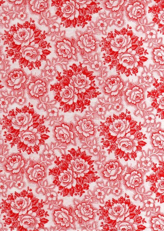 Staphorster bloem wit-rood