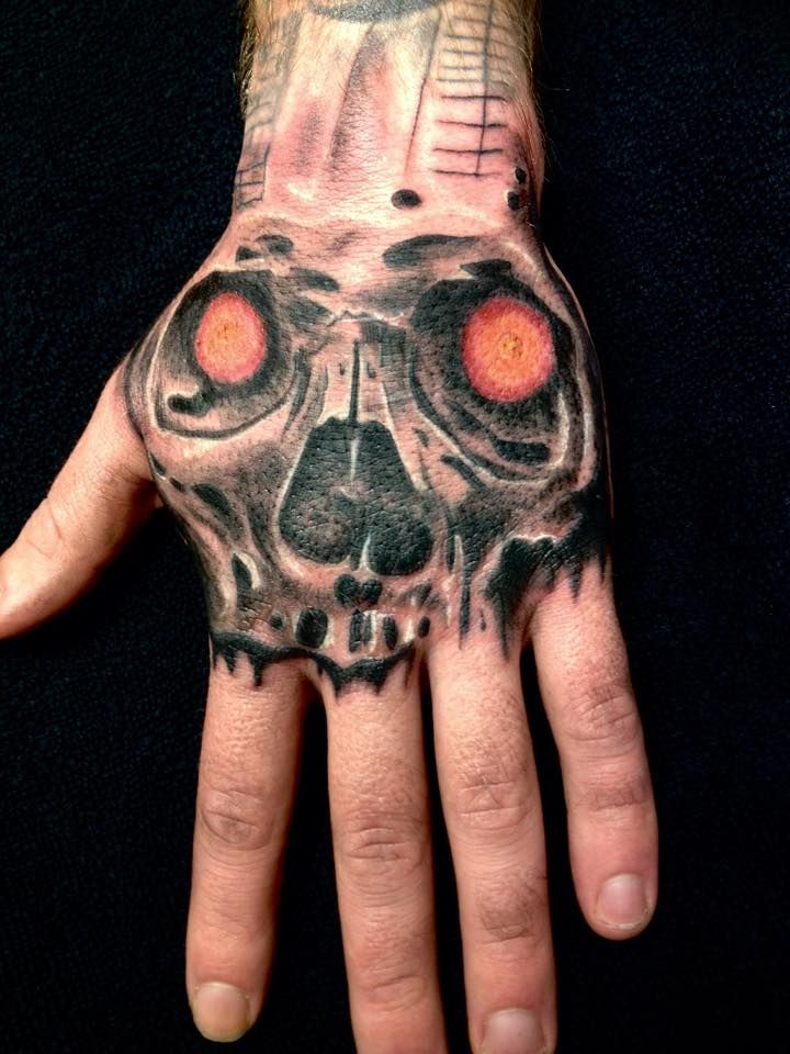 Skull Hand Tattoo by Madlen