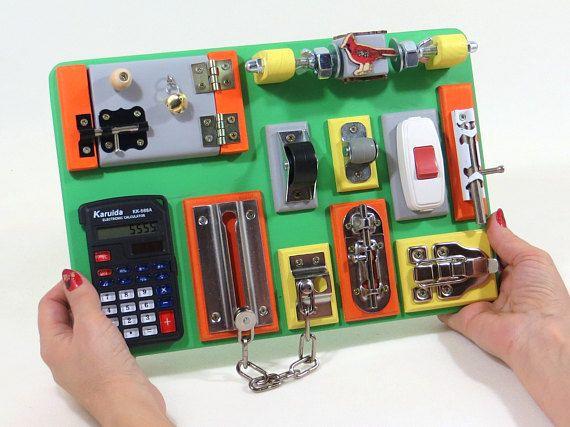Sensory board Toddler busy board Activity board Fine motor