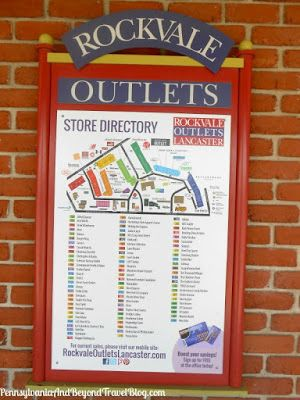 Shopping at the Rockvale Outlets in Lancaster Pennsylvania - Store Directory