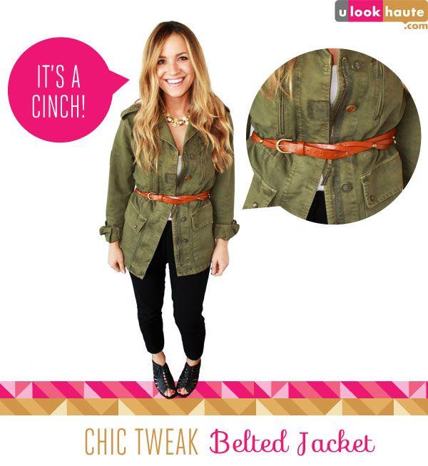 Belted jacket #fashion