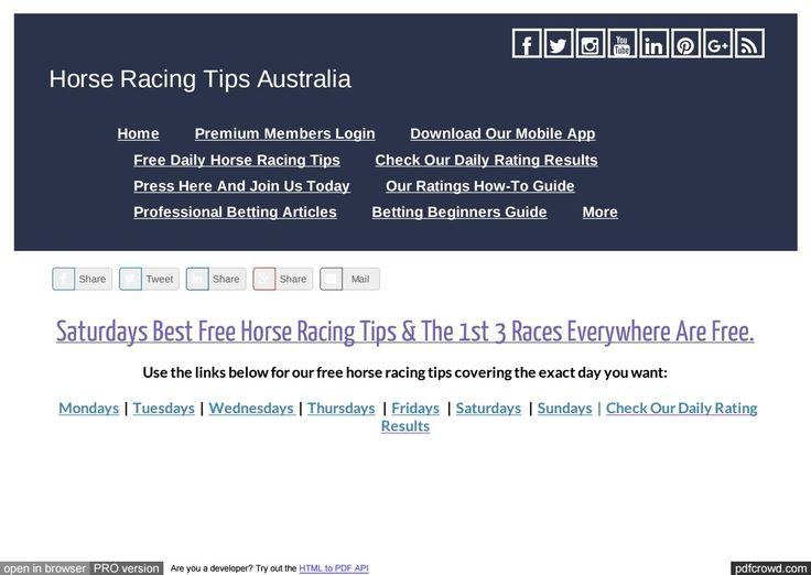 Saturdays September 30th Free Horse Racing Tips