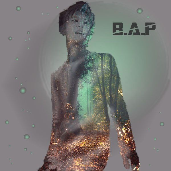 B.A.P's Daehyun in double exposure