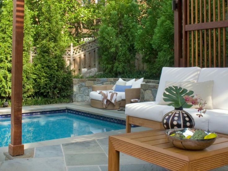 Landscaping Privacy Solutions. Slate PatioLap PoolsSwimming ...