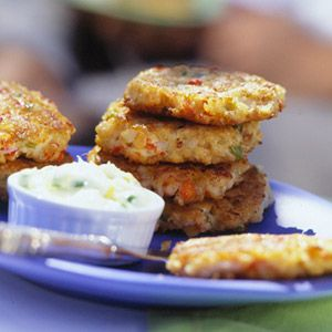 Creole Crab Cakes Ground red pepper gives these appetizer crab cakes a bit of kick.