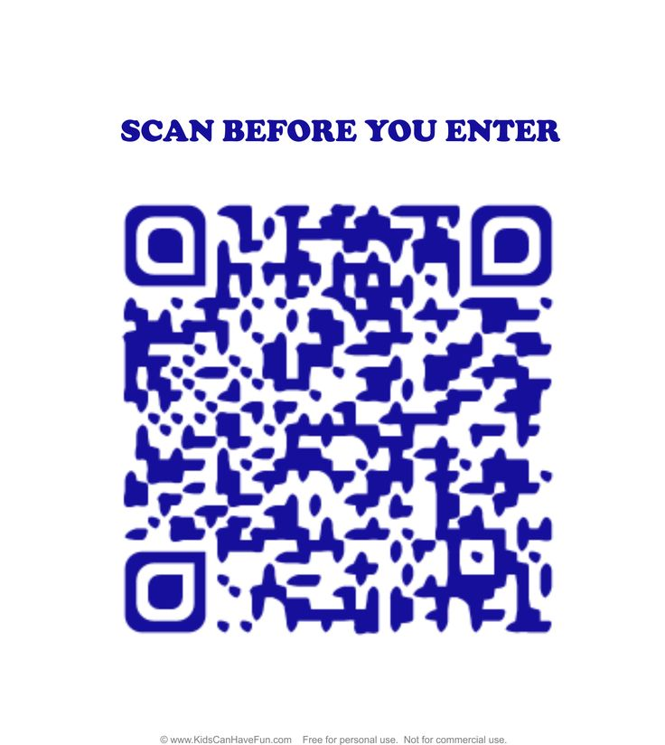 No Girls Allowed Scan before you Enter Boys Door Sign http://www.kidscanhavefun.com/qr-codes-for-kids.htm #qrcode #doorsign #scanme