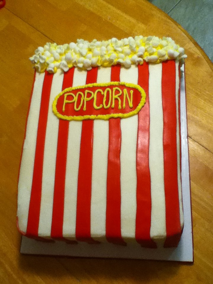 Popcorn Birthday Cake Ideas