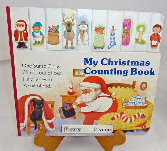 vintage children's story board books My Christmas Counting book for 1-3 year olds