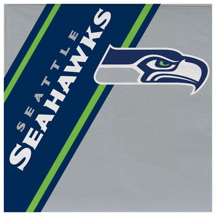 Duckhouse NFL Seattle Seahawks 20-Pack Disposable Napkins